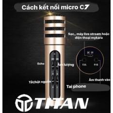 [Nhập ELJAN11 giảm 10%, tối đa 200k, đơn từ 99k][Nhập LZDEL51 giảm 10% tối đa 200k cho đơn 99k] Trọn Bộ Micro C7 Thu Âm Livestream Trên Điện Thoại- Cực Hay Cực Đẹp Phù Hợp Mọi Loại Điện Thoại Android Và IOS