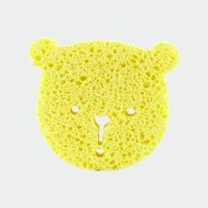 Miếng Tắm Bọt Biển Cenlulose Tự Nhiên Làm Sạch Sâu Và An Toàn Cho Bé Mamamy (Hình Gấu Vàng)