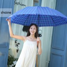 Ô Dù Đi Mưa Shaine – Ô Dù Gấp Gọn Thiết Kế 8 Nan Thép Chống Gỉ, Họa Tiết Caro Chống Tia UV phù hợp cho cả nam và nữ