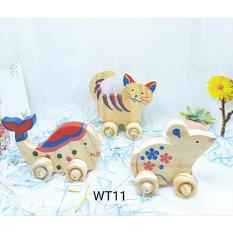 Đồ chơi gỗ bộ thú màu 3 con WT011