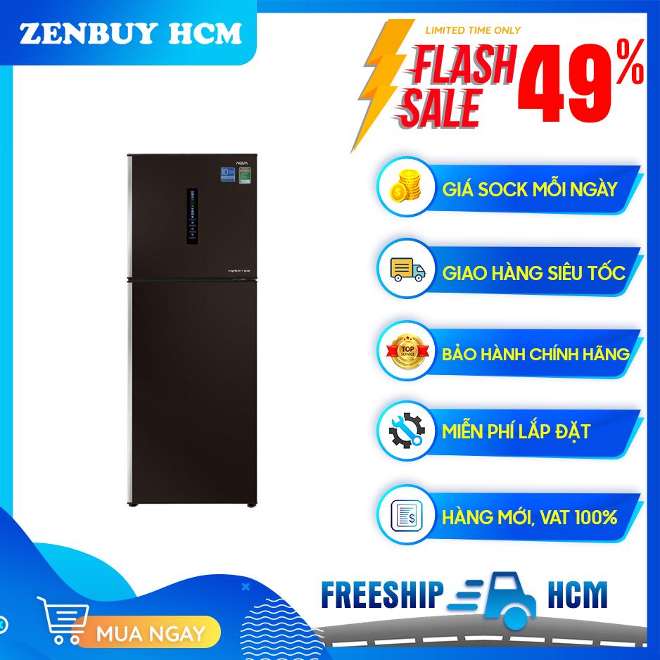 Tủ lạnh Aqua Inverter 345 lít AQR-IU356DN (DB)