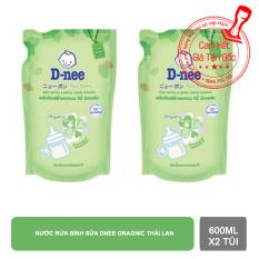 Combo 2 túi nước rửa bình Dnee 600ml Thái Lan【Kho Thế Giới 】