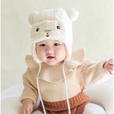 Mũ Len Lông Cừu Hình Gấu Cho Bé HAPPYBEAR