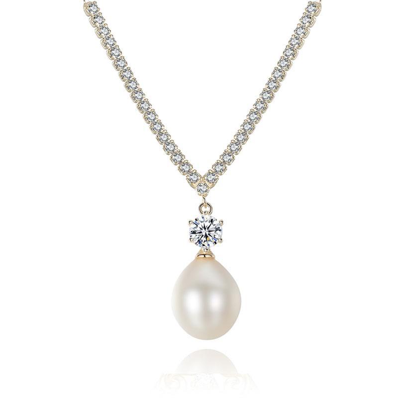 Dây Chuyền Ngọc Trai Dây Chuyền Bạc Trắng Bạc Cao Cấp Cho Phái Nữ DB2340 Cỡ Hạt 9×16 Bảo Ngọc Jewelry