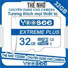 Thẻ nhớ microSDHC Yoosee Extreme Plus 32GB UHS-I U3 4K R90MB/s W40MB/s (Trắng xanh) – chuyên camera và điện thoại