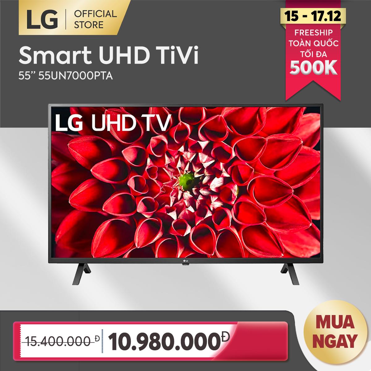 [FREESHIP 500K TOÀN QUỐC] Smart Tivi LG 55 inch 4K UHD 55UN7000PTA Model 2020 – Hãng phân phối chính thức