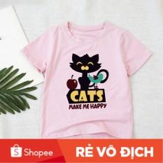 [ Bé Yêu Store❤ ] Áo Trẻ Em In Nhiệt Cats Make Me Happy