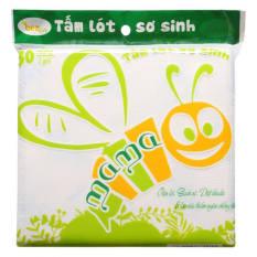 Combo 5 bịch miếng lót chống thấm sơ sinh Mama 30 miếng, kích thước 20*20cm, dày dặn 3 lớp, ngăn chống tràn, hỗ trợ diệt khuẩn thới 99%