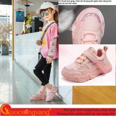 Giày thể thao bé gái đế chống sốc giày bé gái đẹp đế êm GLG118