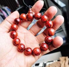 Mỹ Nghệ Độc vòng tay gỗ sưa đỏ Lào Mỹ Nghệ Độc 14 li