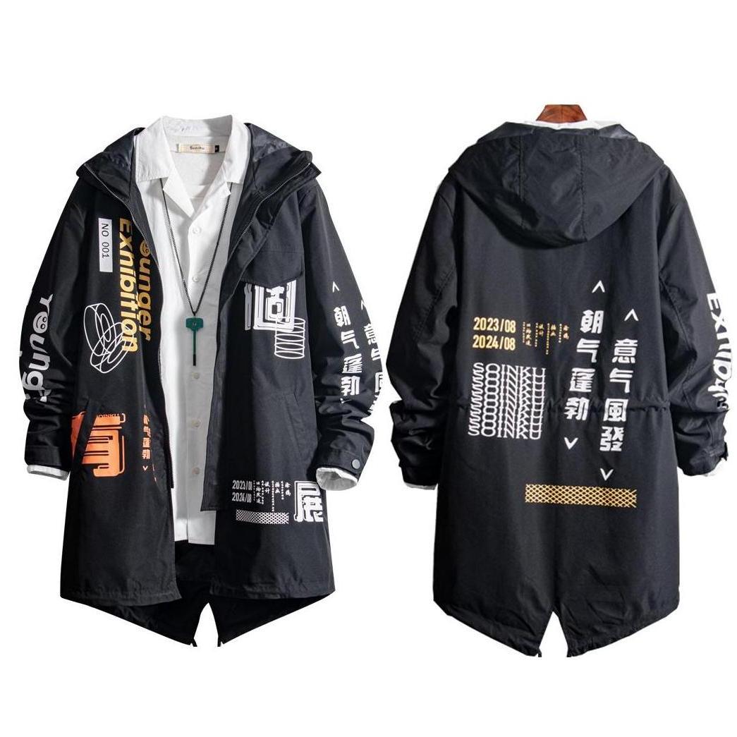 Áo Khoác Mỏng Nhẹ Nam Liền Mũ Phối Họa Tiết Trẻ Trung Kiểu Dáng Hàn Quốc Thanh Lịch Thời Trang 4MEN AO KHOAC NAM 9000024