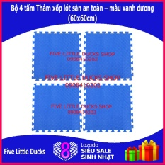 Bộ 4 tấm Thảm xốp lót sàn an toàn cho bé – 60x60cm – xuất xứ Việt Nam
