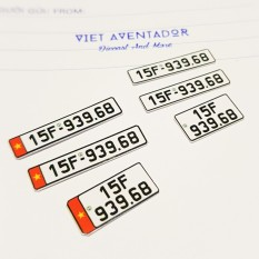 Biển Số Xe Mô Hình Form 2020, Mô hình biển số xe, ô tô mô hình