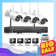 Bộ Đầu Ghi NVR Wifi Kit 5G + 4 Camera WIFI 1080P Chống Nước (Chưa kèm ổ cứng)