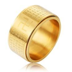 Nhẫn xoay thần chú BÁT NHÃ TÂM KINH khắc chữ VẠN vĩnh viễn không đen