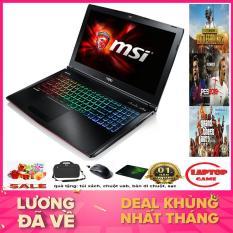 QUÁI VẬT GAME MSI GE62 6QF Core i7-6700HQ/ RAM 8G/ SSD128+ 500G/ GTX 970 3G/ Màn 15.6 inch Full HD 1080 tấm nền IPS/ Phím 7 Màu RGB