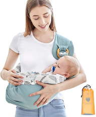 Địu em bé sơ sinh vải chất liệu cotton mềm mại, thoáng khí 5 tư thế phù hợp cho bé từ 0 – 3 tuổi AXT3191