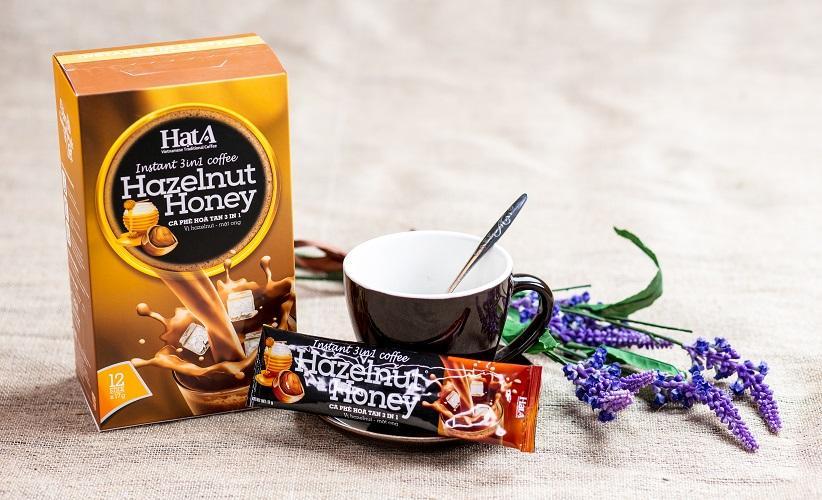 Cà phê hòa atn 3 in 1 - Vị hazelnut - mật ong