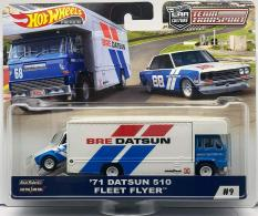 Ô tô mô hình tỉ lệ 1:64 Hot Wheels Car Culture Team Transport '71 Datsun 510 Fleet Flyer