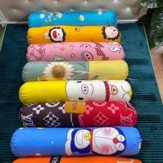 Vỏ gối ôm poly cotton đồng bộ màu ga gối kích thước 35x100cm (được chọn mẫu)