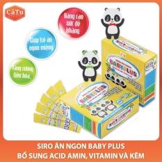 Siro Ăn Ngon BaByPlus – họp 30 ống – 10ml – Giúp bé hết biếng ăn, Tăng sức đề kháng – CATU