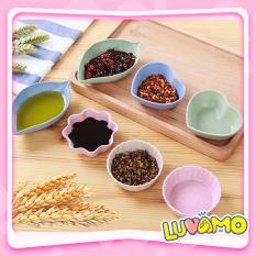 [Thu thập mã giảm thêm 30%] Bát Ăn Dặm Lúa Mạch Kiểu Nhật Mini Hình Hoa Lá Xinh Xắn Dễ Thương Ad06