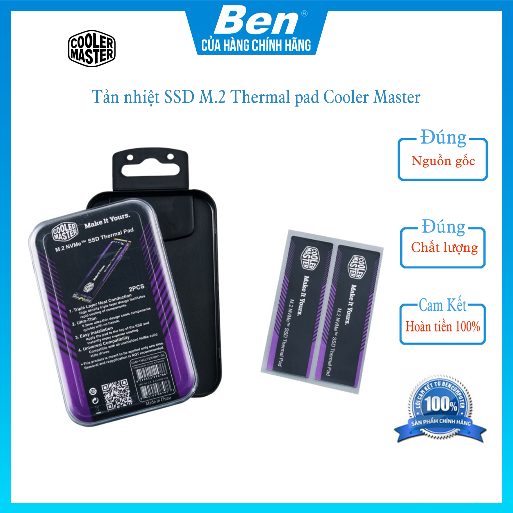 Tản nhiệt SSD M.2 Thermal pad Cooler Master – Ben Computer store