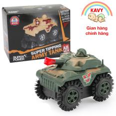 Đồ chơi trẻ em xe tăng chạy pin, chạy nhanh khỏe, nhựa nguyên sinh không độc hại -KAVY