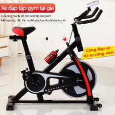 Xe đạp tập gym xe đạp tập tại nhà dụng cụ tập gym tại nhà bàn đạp kiểu lồng chân, yên xe và tay nắm có thể chỉnh độ cao gọn gàng không tốn chỗ Our shopping home