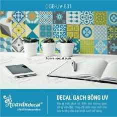 Decal dán tường gạch bông DGB-UV-831-Set ABC 80x60cm (36 mẫu hoa văn)