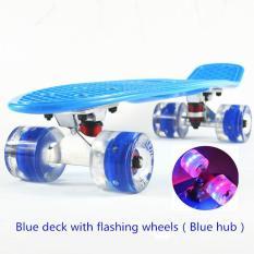 Ván trượt thể thao gg24 chịu tải 100kg có đèn Led- Ván trượt có đèn led năng động cá tính-Ván trượt trục thép, bánh có đèn Led