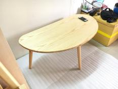 BCF – Bàn cong kiểu gỗ cao su phòng khách 100x50x45, bàn cafe, bàn coffee, bàn cà phê, bàn sofa, bàn trà, bàn gấp xếp