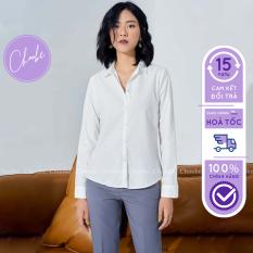 Áo sơ mi Choobe công sở dáng suông vải mềm thoáng mát sơ mi dài tay nữ -A01