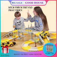 Đồ chơi trẻ em, bộ đồ chơi lắp ghép đường ray ô tô, tàu hỏa kích thích khả năng sáng tạo và phát triển tư duy trẻ nhỏ.