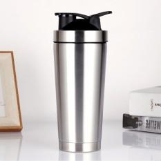 Bình Lắc Shaker Inox, Bình Đựng Nước Tập Gym, Du Lịch – Kèm Bóng Lò Xo Lắc