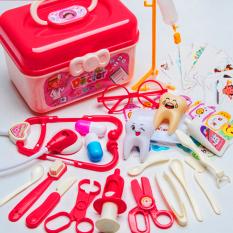 Bộ đồ chơi bác sĩ cho bé 33 chi tiết bổ ích thú vị bằng nhựa nguyên sinh ABS cao cấp an toàn cho bé trai và bé gái BBShine – DC043