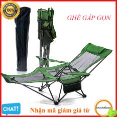 Ghế thư giãn , xếp , di động , ghế câu cá , du lịch gấp gọn, ngả nằm có khay để cốc tặng túi đựng ghế Canashop