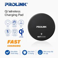 Đế sạc nhanh không dây PROLINK 10W Chuẩn Qi – An Toàn, sạc không dây dùng cho iPhone 12 11 Pro X XR Max 8 Xiaomi Mi10 Samsung S20 kèm cáp Type-A 1m – Hàng chính hãng