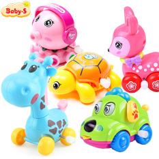 Thú chạy cót, Thú chạy đà bằng nhựa ABS màu sắc dễ thương chuyển động cho bé trai và bé gái Baby-S – SDC055