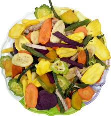 1kg Thập cẩm sấy Đà Lạt Rau Củ quả sấy Trái cây sấy hàng nguyên miếng đẹp không vụn- ngon đặc biệt