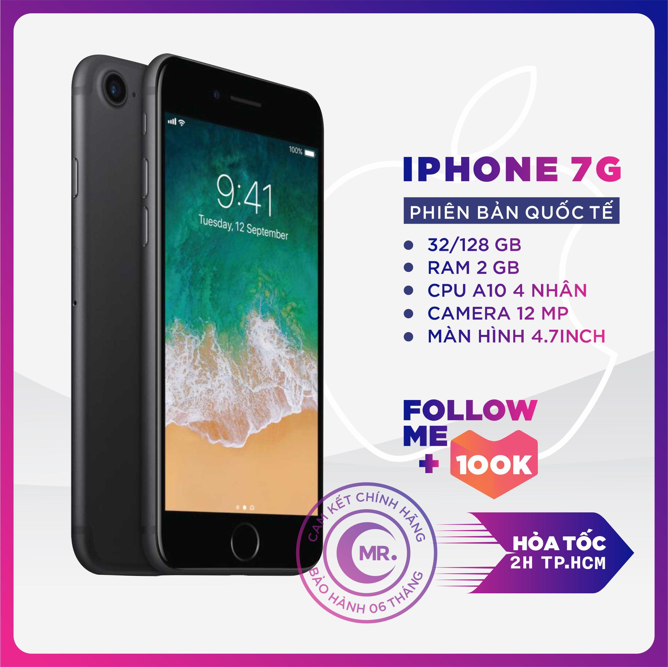 ( FREE VOCHER 350K 15-18/4) Điện thoại Apple iPhone 7 32GB 128GB QUỐC TẾ RAM 2 GB Quad-core 2.34GHz Chipset...