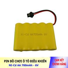 Pin Ni-Cd 6V 700mAh cổng SM dành cho xe đồ chơi ô tô điều khiển (vàng)
