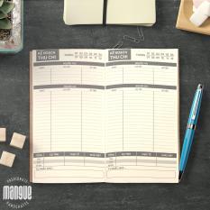 Sổ tay planner giữ tiền bìa cứng 21×11 tài chính cá nhân, thu chi, tiết kiệm, to-do list, thời gian biểu, check list, nhắc việc, lịch hẹn