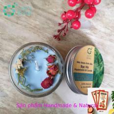 [TẶNG 10 BAO LÌ XÌ] Nến thơm tinh dầu Bạc hà 100g, làm thơm phòng, khử mùi, thư giãn giảm stress – LEE'S HOME