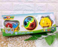 Hộp quà tặng đồ chơi 3 món cho bé 0-9 tháng tuổi