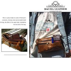 Túi đeo bụng da bò – BHM8943 Túi đeo trước bụng, túi đeo trước ngực, túi đeo lưng