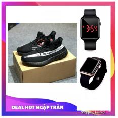 Giày thể thao nam siêu thoáng Sportmax SPM905626D OFF WHITE (Viền Trắng) + Tặng Đồng hồ Led táo thời trang thể thao hot
