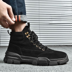 Giày cao cổ nam da lộn phong cách bụi bặm đường phố Hàn Quốc siêu Hot tgg-05
