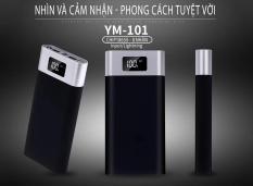 Pin Sạc dự phòng YM-101 dung lượng khủng 20000 mAh Cát Thái đèn LED hiên th, tích hợp đèn pin chiếu sáng 2 cổng USB sạc cùng lúc 2 thiết bị