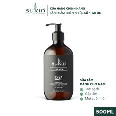 Sữa Tắm Dành Cho Nam Sukin For Men Body Wash 500ml